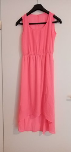 High Low Dress neon pink
