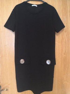 Zara Basic Vestido de lana negro