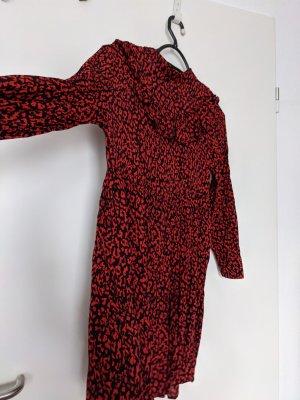 Zara Woman Vestito da spiaggia nero-rosso scuro