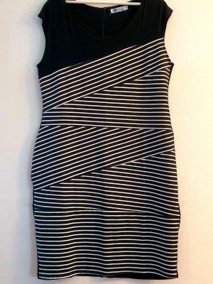 Lesara Robe mi-longue blanc-noir