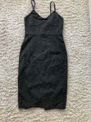 H&M Robe bustier gris anthracite-gris foncé