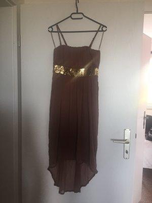 Melrose Asymetryczna sukienka brązowy