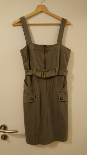 Apart Midi Dress green grey-khaki