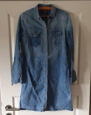 Edc Esprit Shirtwaist dress azure cotton