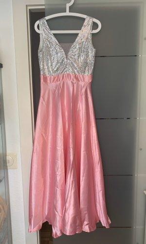 Suknia balowa jasny różowy-biały