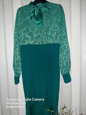 .12 puntododici Vestido línea A azul cadete-verde