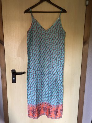 Off-The-Shoulder Dress turquoise-bright red