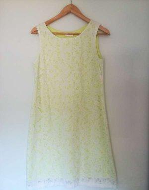 Promod Tube Dress white-lime yellow