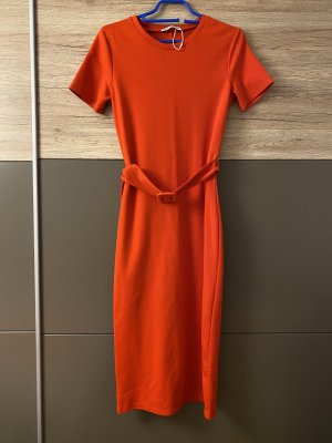 Zara Falda estilo lápiz rojo claro