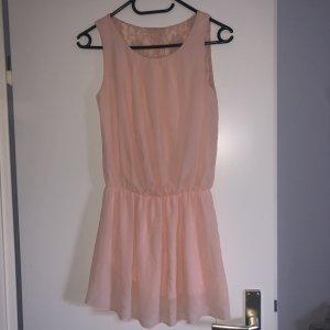 Vestido babydoll color rosa dorado-rosa claro