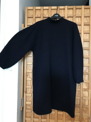 Zara Sukienka dresowa niebieski Tkanina z mieszanych włókien