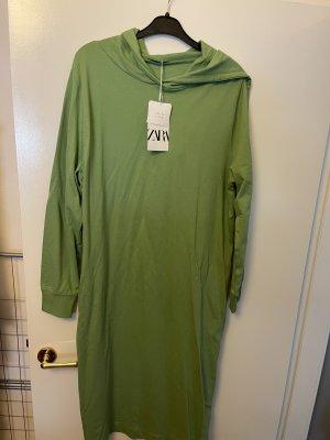 Zara Hooded Dress green