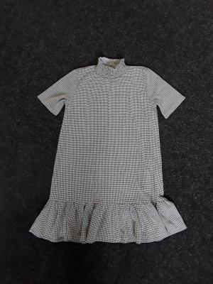 Zara Vestito peplo nero-bianco