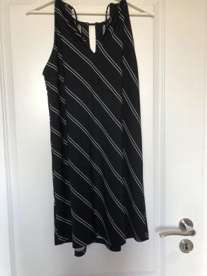 Mango Vestido de tela de jersey blanco-negro