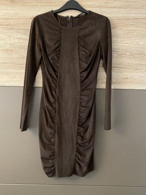 Zara Leather Dress dark brown
