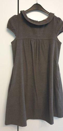 H&M Sukienka z rękawem balonowym ciemnoszary Poliester