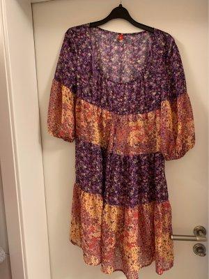 edc Babydoll-jurk donkerpaars-sleutelbloem