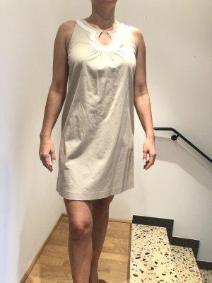 Kleid A-Linie, Creme/weiß