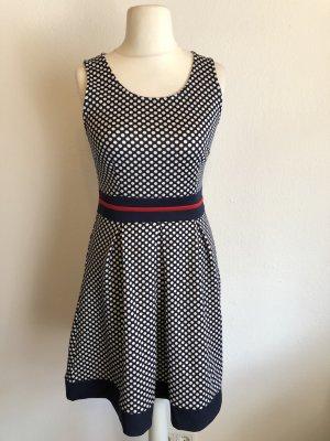 Kleid A-Linie dunkelblau gepunktet Gr. 36/38