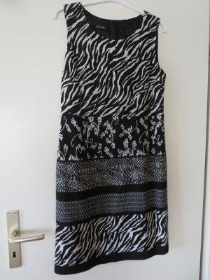 Kleid A-Linie schwarz-weiß