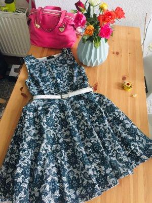 Kleid A-Linie Skaterkleid Ausgestellt Romantisch Blumen Club L