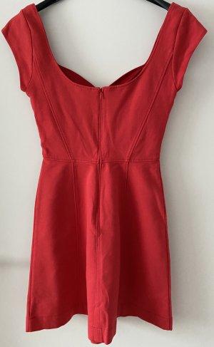 French Connection Vestido de cóctel rojo Algodón