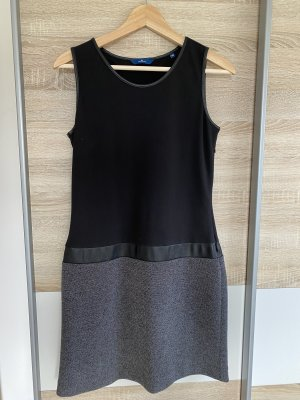 Tom Tailor Leather Dress black-dark grey