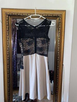 Robe de bal vieux rose-noir