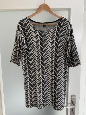 Amisu Robe pull noir-blanc