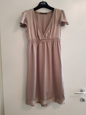 Set Babydoll Dress light brown silk