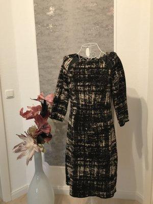 Madeleine Woolen Dress black-natural white