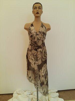 Atos Lombardini Robe longue rose chair soie