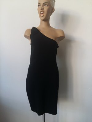 Sonia Rykiel for H&M One Shoulder Dress black cotton