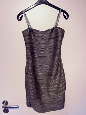 Only Vestido de tubo color plata-gris