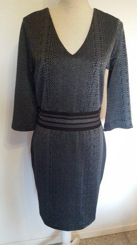 Aako Ołówkowa sukienka czarny-antracyt