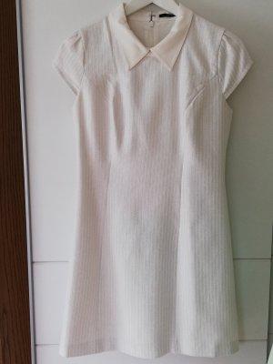 100% Fashion Jurk met korte mouwen wit