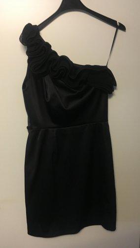 Kleid Abendkleid Cocktailkleid 36 Schwarz Satin