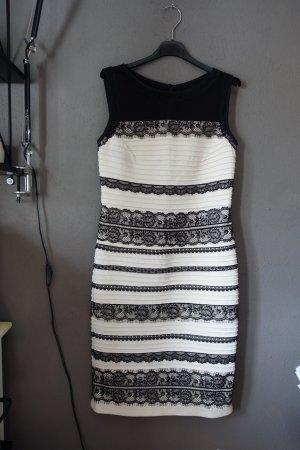 Kleid, Abendkleid, Eutikleid, Partykleid, schwarz weiß, Spitze