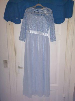 Kleid Abendkleid Gr. 40 Ballkleid Cocktailkleid Blau Abendkleid mit Spitze