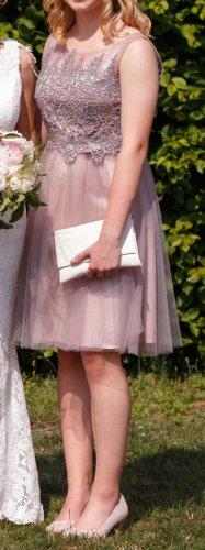 Kleid, Abendkleid mit Funkelsteinchen, Spitze und Tüll