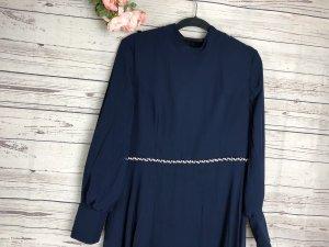 Kleid Abendkleid mit Strass Dunkelblau Chiffonkleid