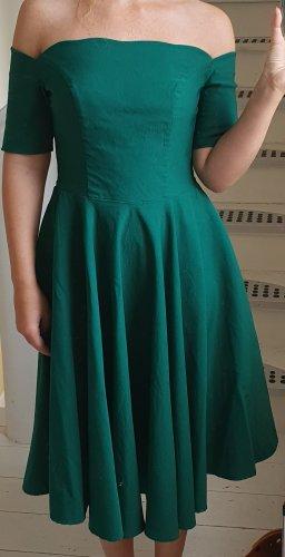 Belle Poque Sukienka z halką leśna zieleń