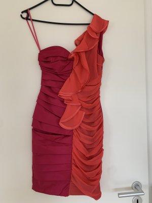 Kleid Abendkleid rot rosa Größe S