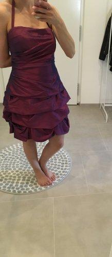 Kleid Abi Ballkleid Hochzeit Party 38 m l 40 36 Beere trägerlos Abendkleid