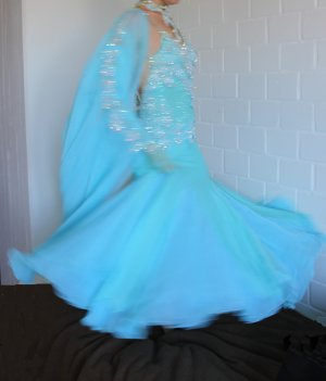 Vestido de baile multicolor
