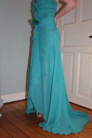 Corsage Dress cornflower blue-meadow green