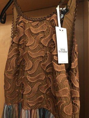 Ana Alcazar Robe longue orange-brun