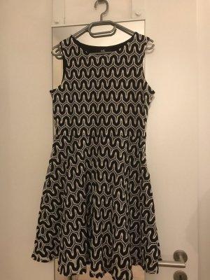 adilisk A Line Dress black-white