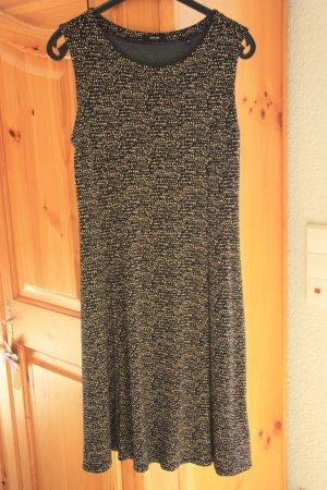 Kleid, ärmellos, schwarz mit beige gesprenkelt, Größe 40, Opus