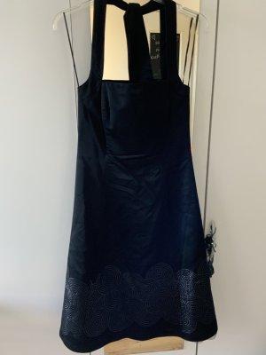 Sixth Sense Halter Dress black acetate